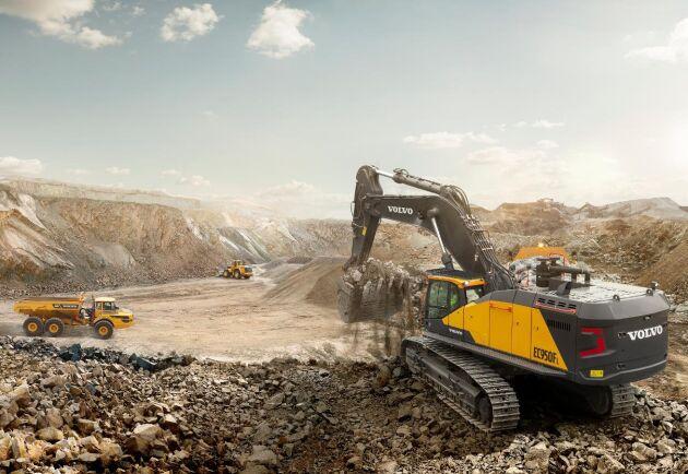 EC950F uppges kunna lasta Volvos största dumper på mindre än två minuter.