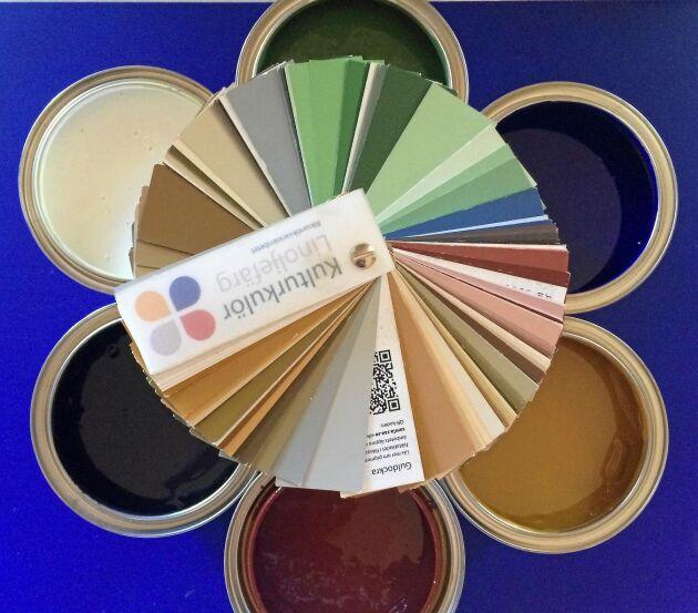 Linoljefärgerna ger en lite dovare och sobrare färgskala som nästan alltid fungerar väl tillsammans och är vackra både på vinter och sommar.