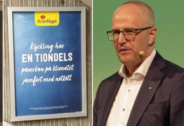 Palle Borgström tycker det är dumt att reklamkampanjerna från Oatly och Kronfågeln ställer bönder mot varandra.