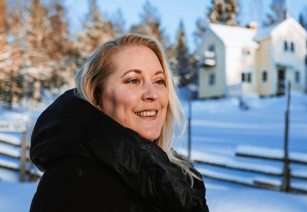 """Linda Hörnfeldt bor cirka två mil utanför Örnsköldsvik i Ångermanland. """"Jag har så många idéer för landsbygden."""""""