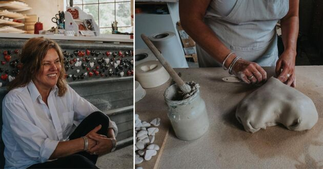 Hantverket betyder mycket för Ingela. Det ger ro och avkoppling.