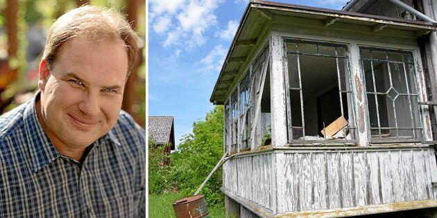 """Robert räddar ödehus: """"Finns kulturhistoriska värden i hus som lämnats"""""""