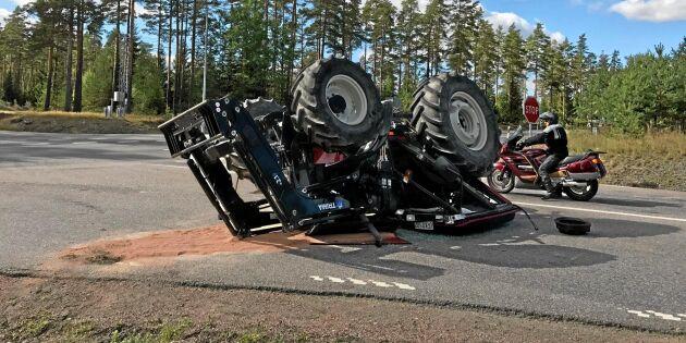 Traktorförare lever farligt på vägarna