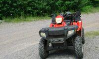 Allvarliga skador efter olycka med fyrhjuling
