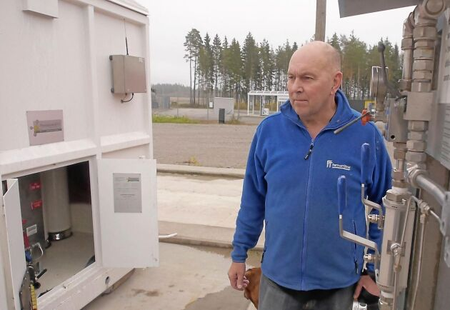 Det finns ett tankställe i anslutning till biogasanläggningen, berättar Stefan Bengtsson.