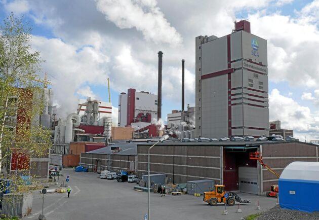 Askan från SCA:s massabruk Östrand i Timrå kan i framtiden användas till att bygga skogsbilvägar.