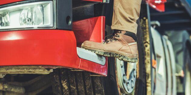 Allt fler unga vill bli lastbilschaufförer