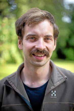 David Ögren, delägare i Korngården och styrelseledamot i Svenska humleodlareföreningen.