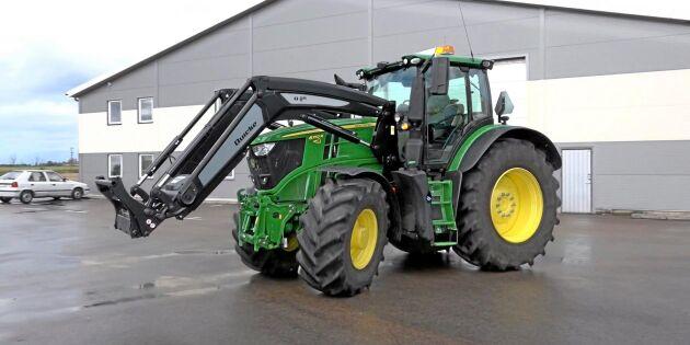 Färre traktorer försvann förra året