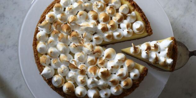 Gudomlig cheesecake med citron och maräng