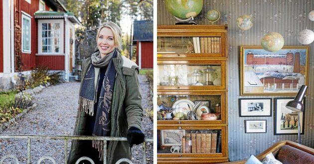 Kika in hos Erika Åberg, SVTs byggnadsvårdsexpert, i hennes hus i Lågbo i Gästrikland.