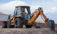 Eldriven traktorgrävare från Case