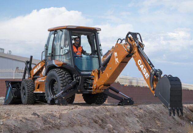 Case säger att den eldrivna traktorgrävaren 580 EV har samma kapacitet som motsvarande dieselmaskin.