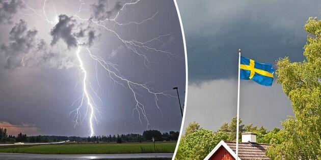 Historiska åskväder i Sverige – minns du dessa?