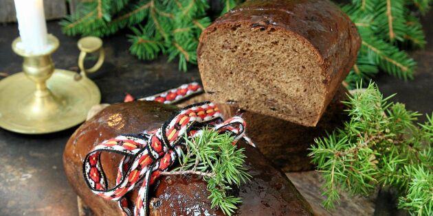 Sirapsglaserat vörtbröd med russin