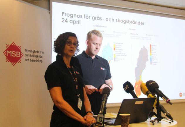 – Vi får väldigt höga brandriskvärden allt tidigare, säger Anneli Bergholm Söder.