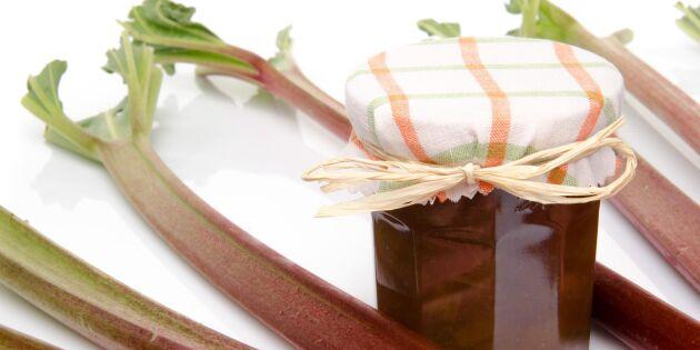 Knäckig rabarbermarmelad – perfekt på mackan
