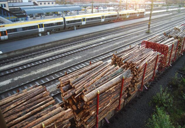 Stora Enso vill öka andelen virkestransporter som sker med tåg.