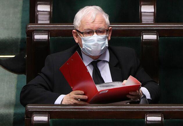 PIS-ledaren Jaroslaw Kaczynski i sejmen tidigare i år.