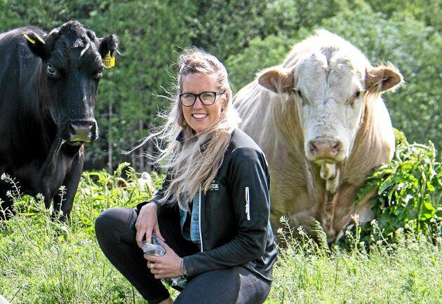 – Jag lärde mig jättemycket och är så glad att jag åkte, även fast vi har en väldigt hektisk tid på gården just nu, säger Agnes Jörgensen från jämtländska Slåtte Naturbeteskött.