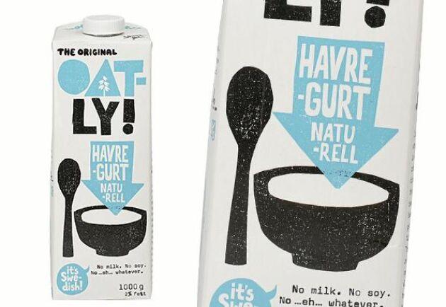 Oatlys havregurt har inte någon levande bakteriekultur vilket yoghurt brukar ha.