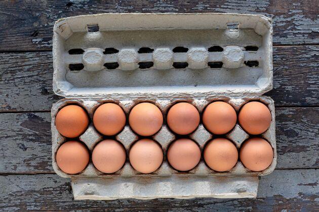 Ägg är en matig och billiga proteinkälla som håller länge i kylskåpet.