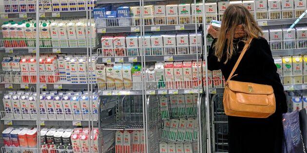 Prisfall på mjölkprodukter gav billigare mat