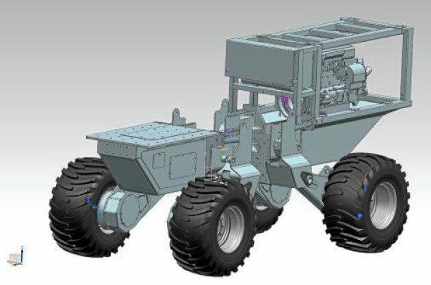 Det förarlösa fordonet ska bland annat testas med ett högläggaraggregat.