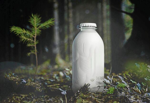 Billerud Korsnäs ska tillsammans med ALPLA utveckla en helt biobaserad och återvinningsbar pappersflaska.