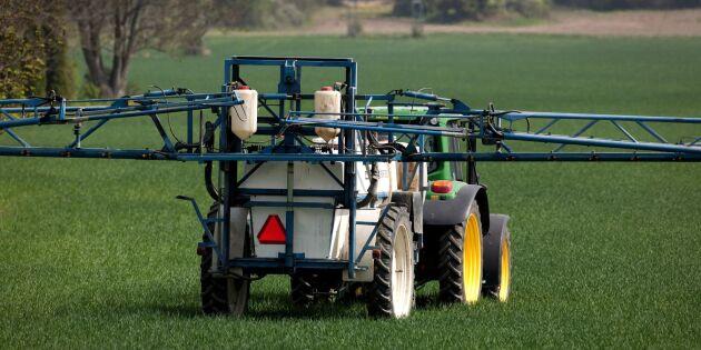 Minskad försäljning av växtskyddsmedel