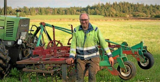 Hos Ove Söderdahl har en gammal kaserad Kverneland hyvelsladd fått nytt liv, nu tävlar han i Teknikutmaningen.