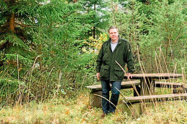 Fredrik Skanse är Sveriges största privata skogsägare.