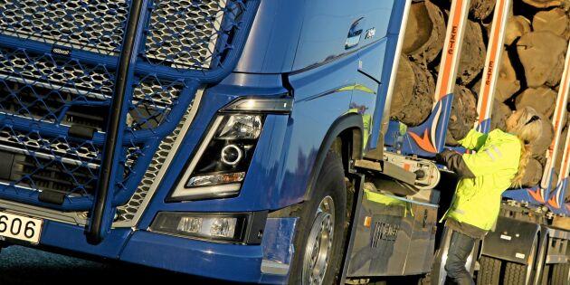 Brist på timmerbilsförare i barkborreland