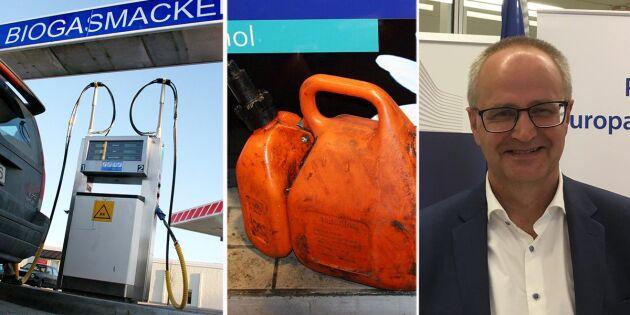 Skåningar tankar billigare biogas i Danmark