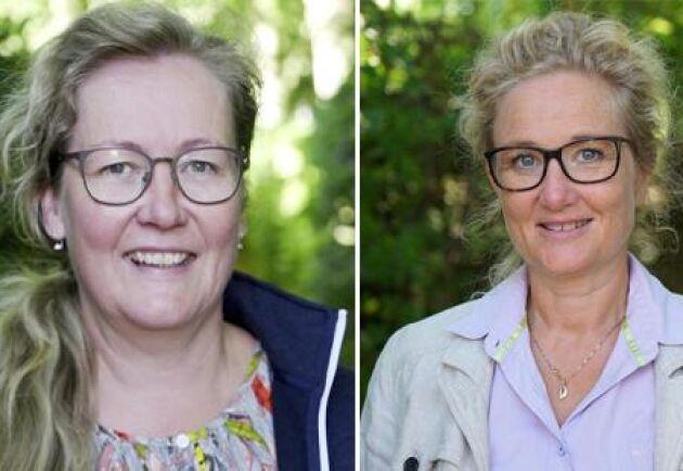 Mervi Honkatukia, sektionsledare för NordGen Husdjur och Lise Lykke Steffensen, direktör NordGen.