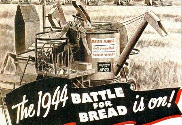 Skördetröskan hjälpte till att vinna andra världskriget genom att skapa mer bröd.