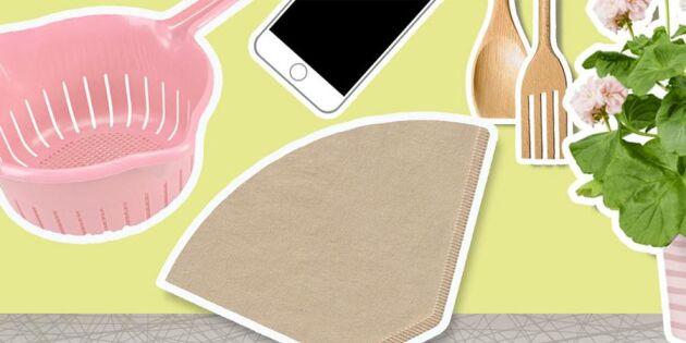 När det går lika bra med kaffefilter – 3 smarta tips