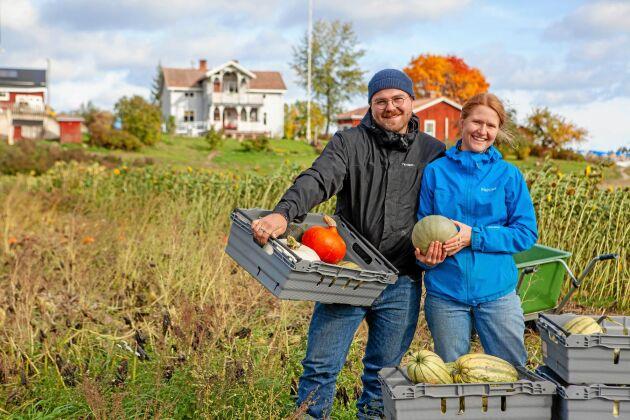 Magnus och Amanda driver framgångsrikt en Krav-odling på släktgården.