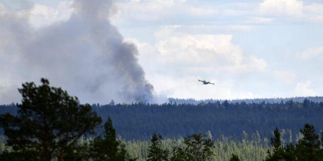 Skogsstyrelsen: Avstå skogsarbete vid extrem brandrisk
