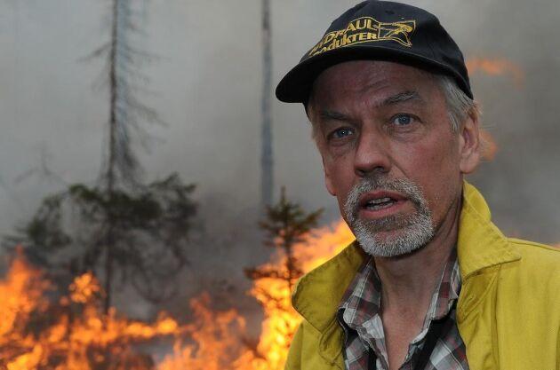 Mer bränder i skogarna. Skogsbrandexperten Anders Granström men att det finns för lite skog i Sverige som är präglad av brand.