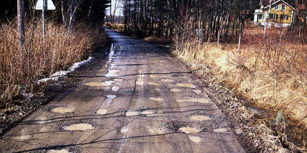Här finns Sveriges värsta vägar