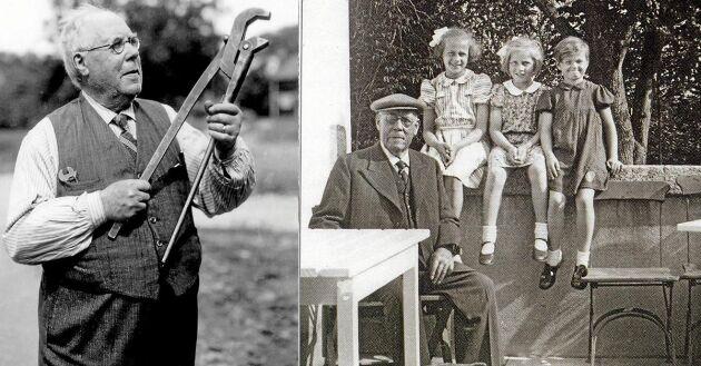 JP gillade sin stora familj, här med barnbarnen Birgit och Barbro och Liisa Collan, familjens krigsbarn från Finland, på en bild från 1941. Två år senare gick han bort.