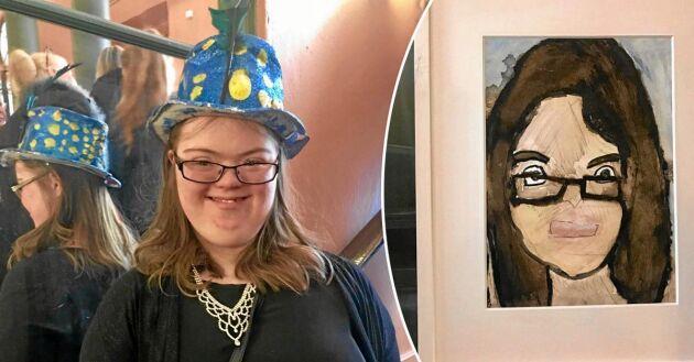 """Johanna Backman är en av lärlingarna i programmet """"Lerins lärlingar"""". Hon har nu fått en egen konstutställning."""