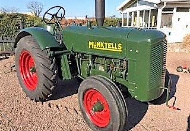 En fin Munktell -25 1937 med tändkulemotor gick för underpris, enligt Göran Boson.