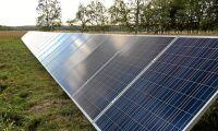 Byggstopp för nya solceller