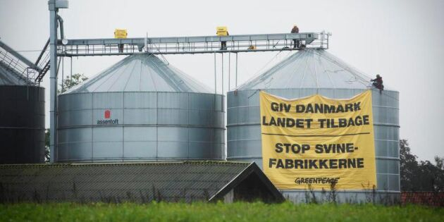 Greenpeace riktade sin aktion mot klimatsmartaste stallet