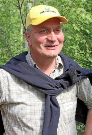 Blandskogsforskare Johan Sonesson på Skogforsk.