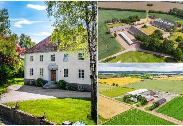Montage: Östra Herrestad gård, Charlottenborgs gård och Sturedal.