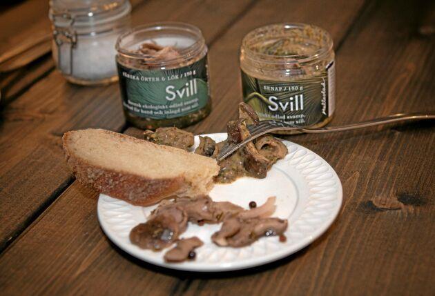 Smaken är mildare, men shiitakens konsistens påminner om inlagd sill.