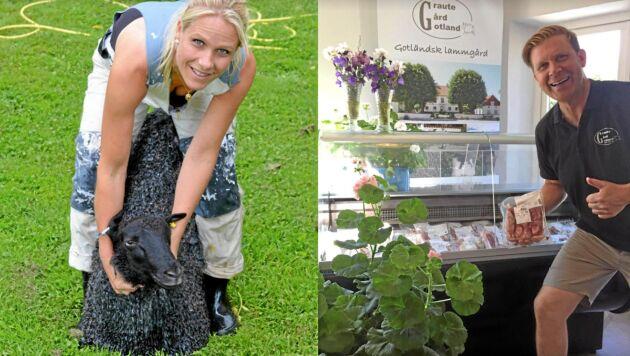 Kjell Nilsson och Jenny Andersson, som driver Graute Gård på Gotland, har levererat lammsadel till årets Nobelmiddag.